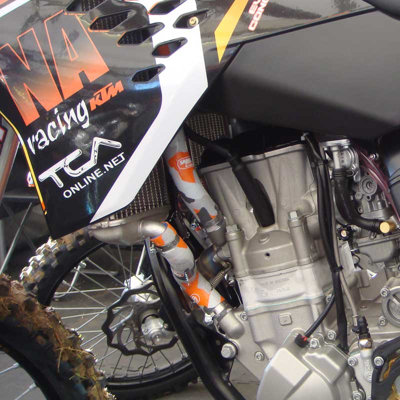 KTM-FTH-2 fit KTM 505 SX-F  2007-2010 Samco Fuel Tap Hose with Clips Inc