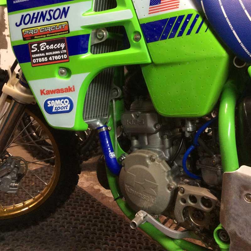 KAW-71 fit Kawasaki KX 125 1988-1989 Samco Premium Silicon Rad Hoses